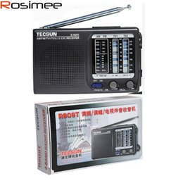 Телевизионное вещание онлайн-Wholesale-Original TECSUN R-909T R909T FM / MW TV Sound MultiBands Radio Receiver Broadcast Built-In Speaker R909T FM radio Digital Demod