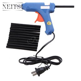 Wholesale Tools Wholesaler Usa - Neitsi Hair Extensions Tools 1Pcs 20W USA Plug Blue Glue Gun + 12PCS Keratin Glue Sticks Professional For Hair Extensions Apply