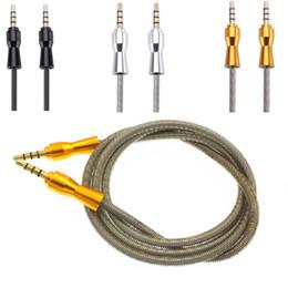 Mp3 primavera online-Cavo ausiliario audio ausiliario 80CM Lega di primavera Cavo ausiliario stereo AUX stereo per cuffie mp3 per iphone samsung