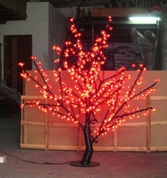 Wholesale Led Light Cherry Blossom - Christmas LED Cherry Blossom Tree Light 480pcs LED Bulbs 1.5m Height 110 220VAC SIX Colors for Option Rainproof Outdoor Usage LLFA