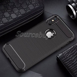 Wholesale Iphone Luxury Brush - Luxury phone Carbon Cases for iphone X 7 6 plus classic carbon fiber soft silicone Brushed case cover Business style for Samsung Note8