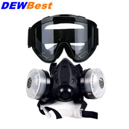 Wholesale Dust Respirator Mask - DEWBest Good quality 9578 respirator gas mask filter cotton Breathing painting work and dust mask anti riot anti gas respirator gas mas