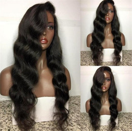 Wholesale Remy Indian Lace Front Wig - Hair Pre Plucked 250% Density Lace Front Human Hair Wigs For Black Women Body Wave Brazilian Remy Hair Wigs