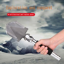 Wholesale Stainless Steel Camping Equipment - High quality German manganese steel Professional Military Tactical Mini Multifunction Shovel Outdoor Camping Spade Tool Equipment