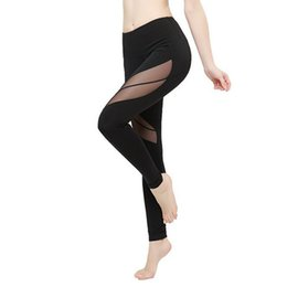 Wholesale gym clothes women - Ropa Deportiva Mujer Transparent Women Sport Leggings Gym Mesh Splice Sexy Running Tights Gym Clothing Fitness leggin Yoga Pants