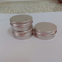 Wholesale Aluminium Cosmetic Containers - 100pcs lot Screw on Lids Aluminium Jars Cream Jars with Screw Lid,Cosmetic Case Jar,15ml Aluminum Tins, Aluminum Lip Balm Container