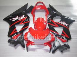 Cbr954rr impermeabile rosso nero online-Kit regalo 3 carenature Hot ABS nuovo caldo 100% adatto per Honda CBR900RR CBR954RR 2002 2003 900RR 954RR 02 03 set carrozzeria carenato Nero Rosso A20