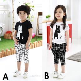 Wholesale Giraffe T Shirt Girls - 2017 Summer Children Clothes Sets Baby Boys T-Shirt + Pant Suits Giraffe Girls Clothing Suit Kids Sport Suits Tops Harem Pants T Shirt Short
