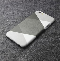 Wholesale Design For Phone - Black and white ash hit color retro simple Apple iphone6s plus 5s original design phone shell half pack hard