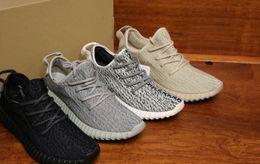 Wholesale Men News - 2016 350 Oxford Tan Running Shoes Men Shoes Moonrock Women Pirate Black Sport Shoes Sneaker News With Box