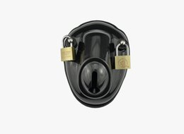 Wholesale Bdsm Slave Sale - Hot Sale New Male Plastic Chastity Belt Devices Cock Cage Penis Lock Bondage BDSM Slave Sex Toys