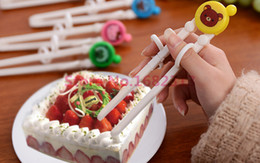 Wholesale Early Learning - Wholesale- Free shipping Cartoon Style Kids Children early Learning Training Designed Chopsticks Baby enlightenment chopsticks 2015 markkk