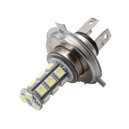 Wholesale H4 12v - 7000K 12V White RV Camper Headlight H4 5050 18-LED Light Bulbs Backup Reverse Car Light Source-D2TB