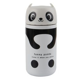Wholesale Disposable Water Bottles - Wholesale- Cute Panda Bear Vacuum Insulated Thermos Cup Coffee Mugs 220ml Stainless Steel Thermal Water Bottle Flask Thermocup Drinkware