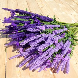 Wholesale Decoration Bunch - Artificial lavender Bunch PE foam flower with 48cm length for Home decoration Wedding banquet fake flower free shipping