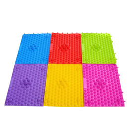 Wholesale Foot Massaging Mat - Wholesale-TPE linking piece fingerboard overpressure pain foot massage pad Yoga Mat Body Massage Relaxation Health Care Tools
