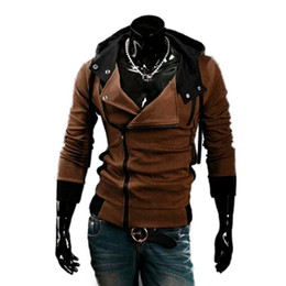 Wholesale Desmond Miles Hoodie Jacket - Wholesale-Free shipping Cos Assassin's Creed Revelations Desmond Miles Cosplay Costume Hoodie Jacket Assassins Creed Hot sale