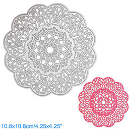 Wholesale Round Dies - Round Flower Lace DIY Metal Cutting Dies Stencil Scrapbook Card Album Paper Embossing Crafts
