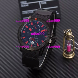 Wholesale Low Priced Luxury Watches - Wholesale Low Price Luxury UN Men Mechanical Watch Ulysse Marine Stainelss Black Face Rubber Buckle Date Mens Automatic Movement Wristwatch