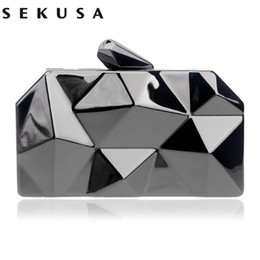 Wholesale Handbag Bag Tin Box - NEW HOT geometric shaped tin box case evening bags clutch purse handbags clutch evening bags women purse bags