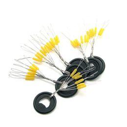 Wholesale Float Stopper - Wholesale- 100 Pcs 6 in 1 Size S M L Black Rubber Oval Stopper Fishing Bobber Float