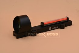 Wholesale Hunting Red Dot - Lightweight Fiber Sight Red and Green 1x28 Red Dot Hunting Scope Fit Shotguns Rib Rail Hunting Shooting