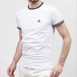 Wholesale Tshirt Sleeves - 2017 Fashion Brand New men's T-shirt Brand LOGO Embroidery t shirt Casual loose fit Short Sleeve O-neck Tops Tees male tshirt High Quality