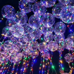 Wholesale Free Christmas Door Decorations - Out Door Light Up Toys LED String Lights Flasher Lighting Balloon wave Ball 18inch Helium Balloons Christmas Decoration Toys DHL Free