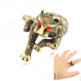 Wholesale Ring Size 22 - chaming 925 silver inlay diamond leopard lady;s ring size 6 7 8 (88)22