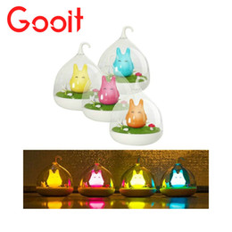 Wholesale Bird Lamps - Wholesale- LED Night Light Touch Dimmer Rechargeable Animal Birdcage Vibration Led Desk lamp table bird lights