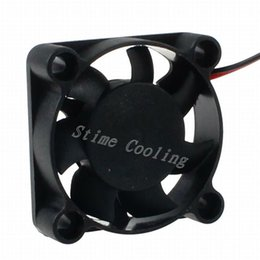 Wholesale 12v Mini Motors - Wholesale- 10Pcs LYF 2pin 40*40*10mm 40mm 4010 DC 12V Hotsell Mini Cooling Radiator Motor Fan