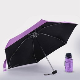 Wholesale Mini Sunscreen - Mini Raining umbrella Sunscreen UV folding umbrella sunny umbrella Shade Umbrellas Sunny and Rainy Household Sundries 1217