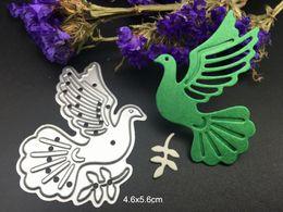 Wholesale Cut Bird - METAL CUTTING DIES peace dove bird pigeon DIY Scrapbooking card album paper craft party decor stencils punch cuts dies cutting