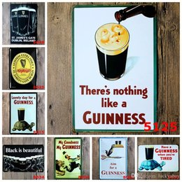 Wholesale Restaurant Plastic Plates - Black Beer My Guinness Vintage Tin Signs Retro Metal Sign Antique Imitation Iron Plate Painting Decor Wall Of Bar Cafe Pub Shop Restaurant