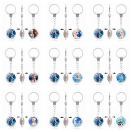 Wholesale Double Heart Keychain - Good A++ New double-sided rotating time gem cartoon character keychain custom KR226 Keychains mix order 20 pieces a lot