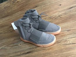 Wholesale Skateboard Shoes Winter - Top Quality Mens Boost 750 Blackout Outdoors Sneaker,Kanye West shoes Hot Selling 750 Boost, Skateboard Shoes,Sneakeheads Shoe High Shoes.