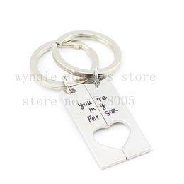 "Wholesale Wholesale Anatomy - Wholesale-2015 new style""You're my Person"" Hand Stamped Couples Key Chain &necklace Set of 2 Grey's Anatomy Inspired His& Hers Jewelry"