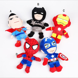 Wholesale Avengers 26cm - 26cm avengers plush dolls toy superman spiderman batman toys super heroes avengers Alliance marvel the avengers dolls