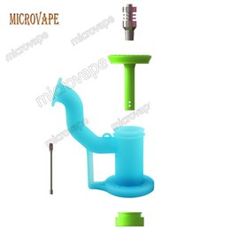 Wholesale Silicone Male Body - Eyc Wax Oil Smoking Dab Oil Rigs Bong Silicone Dabbing Rigs Titanium Nail female and male Platinum Cured Silicone Body and Stem Cap