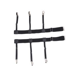 Wholesale Elastic Suspenders For Women - Punk Mens Shirt Garters Gentleman Leg Thigh Elastic Garter Belt For Men Women Suspender Shirt Stays Suspenders Shirt Holder