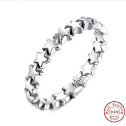 Wholesale Wedding Trails - Star Trail Stackable Finger Ring For Women Wedding 100% 925 Sterling Silver Jewelry New Collection Wholesale Price