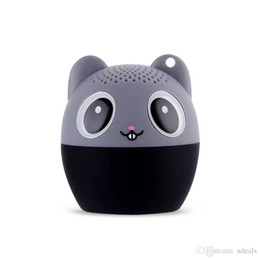 Wholesale Bear Speakers - Mini Wireless Bluetooth Speaker Cute Animal Cartoon Speaker Pig Dog Bear Tiger Panda Pocket Speaker Special Gift For Friend Kid Child