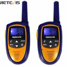 Wholesale Pc Walkie Talkie - Wholesale- 2 pcs Mini Retevis Walkie Talkie Kids Toy RT31 8CH 0.5W UHF 446.00625-446.09375Mhz PMR446 VOX LCD Display Radio Children A9112M