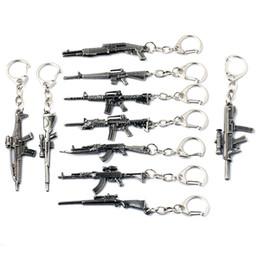 Wholesale Cross Fire Gun Keychains - CSGO Keychains Jewelry Simulated Gun Alloy Cross Fire Key Chain & Key Ring For Gift Hot Sale New Wholesale