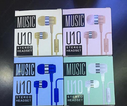 Wholesale Huawei Headphones - U10 3.5MM Headphone In-Ear Earphone with Mic and Remote stereo headset for iphone 6 samsung S7 S6 note 7 huawei