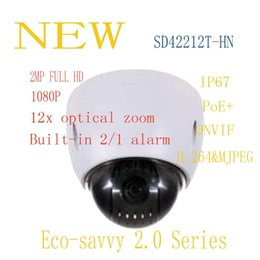 Wholesale Indoor Ptz Dome Ip Camera - DAHUA Security IP Camera 2MP Full HD 12x Mini Network PTZ Dome Camera IP66 With POE+ Without Logo SD42212T-HN