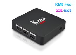 Wholesale Ram Flash - Fast 2GB RAM 16GB Flash Octa core Kdi fully loaded Media Player S912 Android TV Box KM8 pro support dual band Wifi Bluetooth4.0