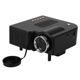 Wholesale Digital Box Vga - 5 PCS UC28+ Portable LED Projector Cinema Theater PC&Laptop VGA USB SD AV HDMI digital pocket home cinema projetor With Retail Box