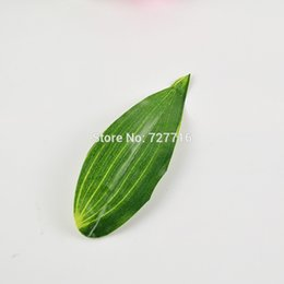 Wholesale wholesale silk leaves - Wholesale-simulation branch leaf and stem Artificial silk leaves for DIY silk flower Garland Decor 20pcs