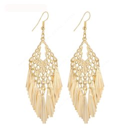 Wholesale Long Skirts Styles For Women - Dangle Long Earrings For Women Tassel Skirt Style Top Quality Bijouterie Hot Sale No.A620A621